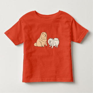 Chow Chow Dog Couple Toddler T-Shirt