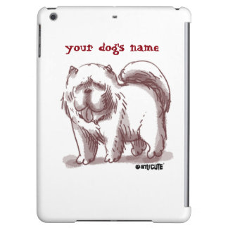 chow chow dog illustrated cartoon style case for iPad air