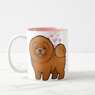 Chow Chow Love Two-Tone Coffee Mug