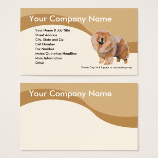 Chow Chow on Brown Wave Business Card