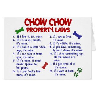 CHOW CHOW Property Laws Card
