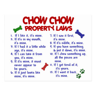 CHOW CHOW Property Laws Postcard