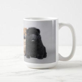 Chow chow puppies basic white mug