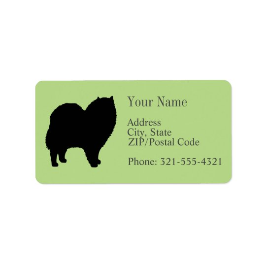 Chow Chow Silhouette Address Label