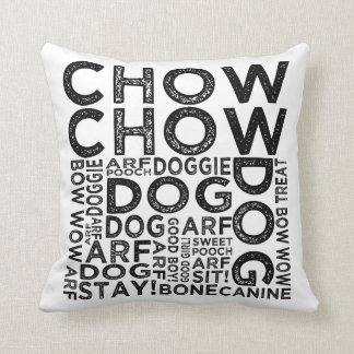 Chow Chow Typography Cushion