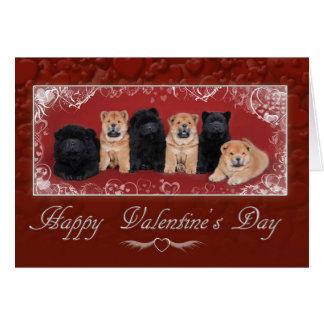 Chow chow valentine card