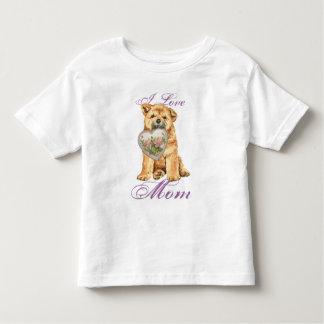 Chow Heart Mom T Shirt