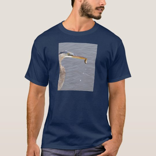 Chow Time For Great Blue Heron T-Shirt