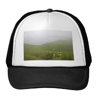 Chowiet Island camp in the fog Mesh Hat