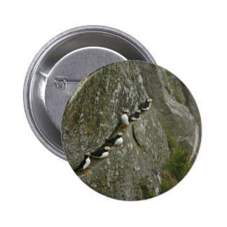 Chowiet Island Horned Puffins Pinback Button