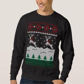 CHR001 - Jumping Deer Christmas Ugly Sweatshirt