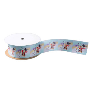 CHRIS AND DRAGOU  FUNNY CARTOON SATIN RIBBON
