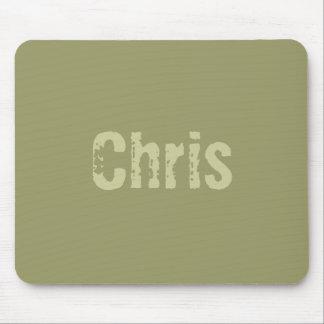 Chris Army Green Mousepad