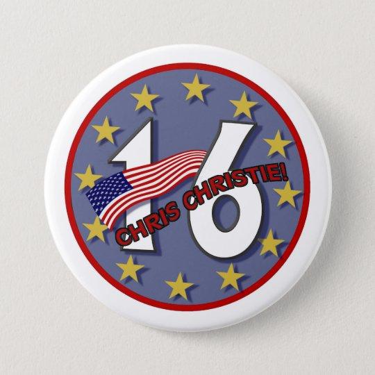 Chris Christie '16 7.5 Cm Round Badge