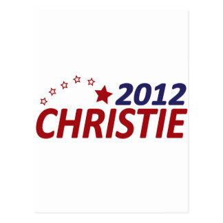 Chris Christie 2012 Postcard