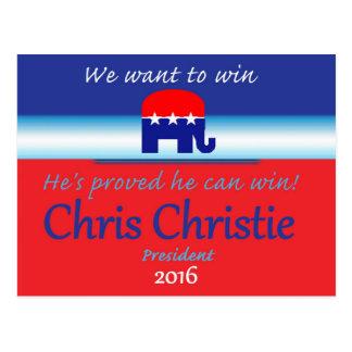 CHRIS CHRISTIE 2016 POST CARD