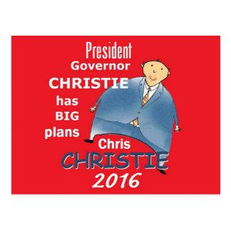 Chris CHRISTIE 2016 Postcards