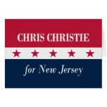 Chris Christie for New Jersey Greeting Card