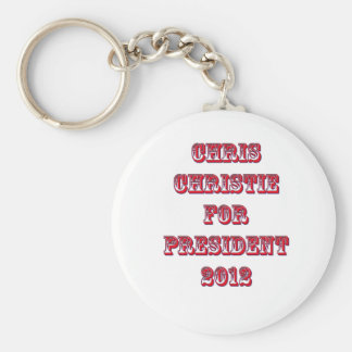 Chris Christie for President 2012 Basic Round Button Key Ring