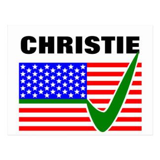 Chris Christie for President 2016 Postcard