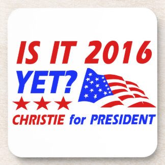 Chris Christie for President designs Drink Coasters