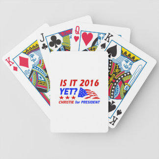 Chris Christie for President designs Deck Of Cards