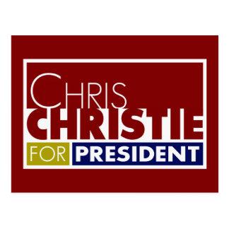 Chris Christie for President V1 Postcard
