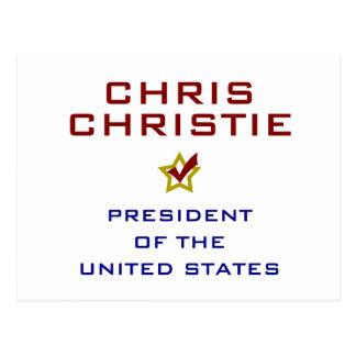 Chris Christie President USA V2 Post Cards