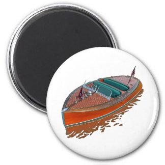 Chris-Craft Barrel Back 6 Cm Round Magnet