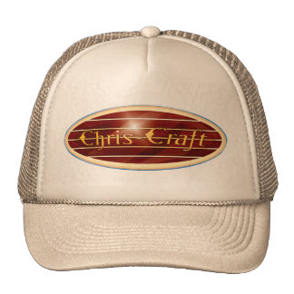 chris Craft  Boats oval Trucker Hat