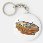 Chris Craft Continental Basic Round Button Key Ring