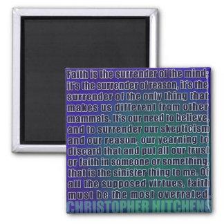 Chris Hitchens Surrender of Reason (Blues) Magnet