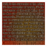 Chris Hitchens Surrender of Reason (Reds) Poster