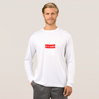 Chris Nation Box Logo mens long sleeve shirt