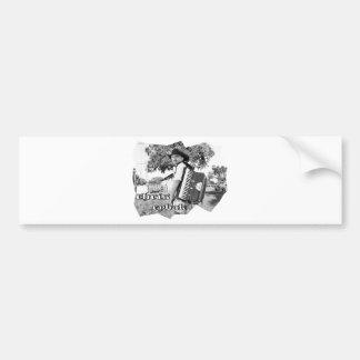 Chris Rybak - Kloesel poster - Black white Bumper Sticker