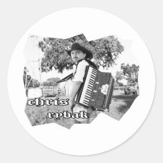 Chris Rybak - Kloesel poster - Black white Round Sticker