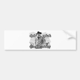 Chris Rybak poster - Black white Bumper Sticker