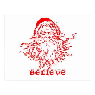 Chrismas belief postcard