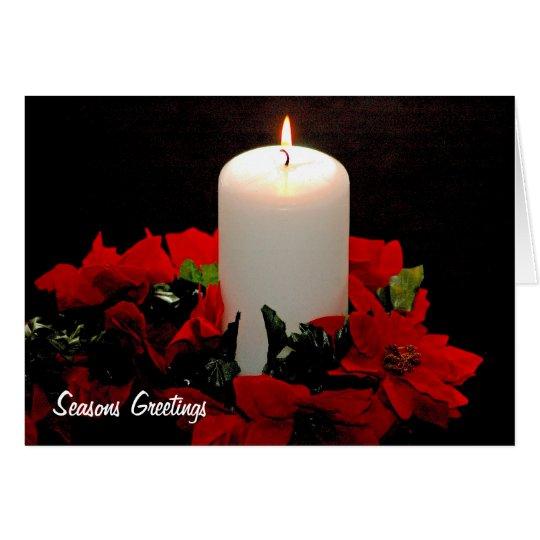 Chrismas Candle Greeting Card