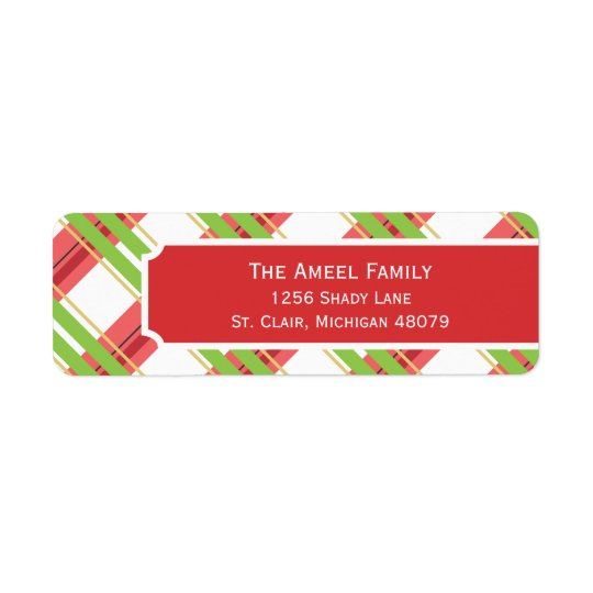 Chrismas Plaid |  Holiday Address Labels