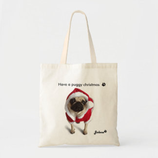Chrismas pug Jolene bag