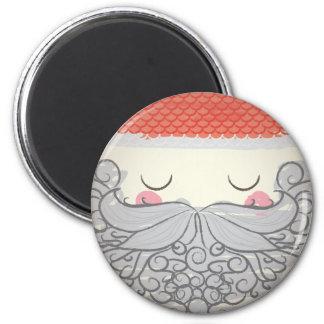 Chrismas - Santa Claus 6 Cm Round Magnet