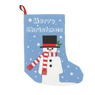 Chrismas Stocking with Jolly Gentleman Snowman