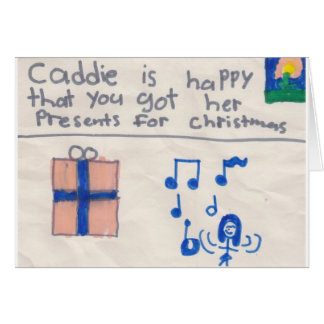 Chrismas Thank you (child) Card