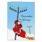 Chrismukkah, Interfaith Holiday, Santa and Menorah Card