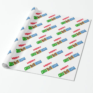 Chrismukkah with Manger as M Gift Wrap Wrapping Paper
