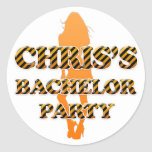 Chris's Bachelor Party Round Sticker