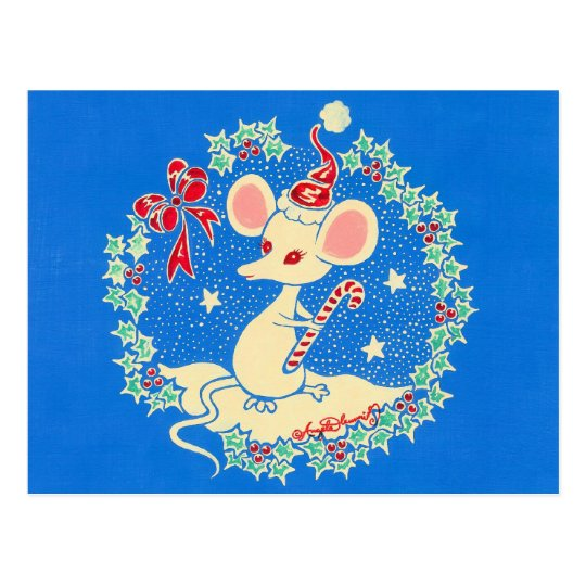 Chrissie the Christmas Mouse Postcard