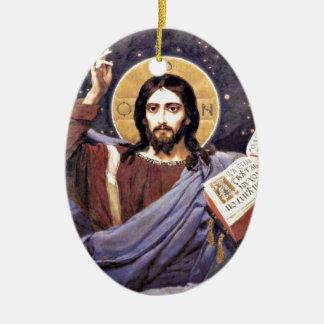 Christ Almighty, Viktor Vasnetsov painting Christmas Ornament