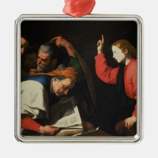 Christ among the Doctors, c.1630 Silver-Colored Square Decoration